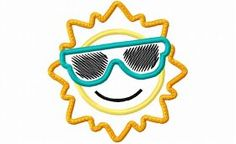 Designs :: Occasions :: Summer :: Sun With Glasses