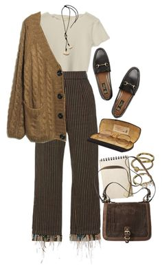 A fashion look from January 2018 featuring oversize cardigan, crop t shirt and brown pants. Browse and shop related looks. Mode Outfits, Retro Outfits, Cute Casual Outfits, Fall Outfits, Vintage Outfits, Fashion Outfits, Fashion Pants, Hipster Outfits, Vintage Clothing
