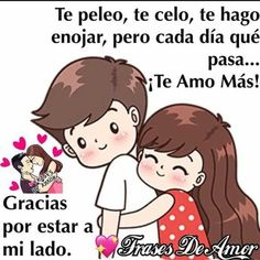 Love Phrases, Love Words, Cute Spanish Quotes, Love You Gif, Amor Quotes, Life Quotes, I Love My Hubby, Cartoons Love, Cute Messages
