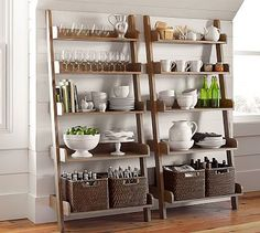 Studio Wall Shelf #potterybarn Love this for a kitchen with not enough cabinets.