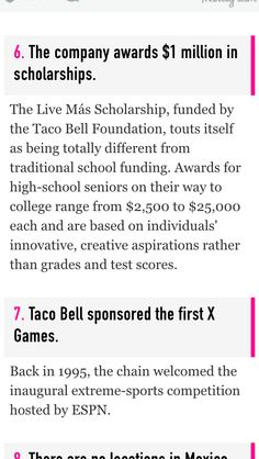 Taco Bell Scholarship