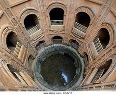 India, Uttar Pradesh, Lucknow, Bara Imambara, The baoli or stepwell - Stock Image