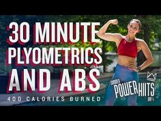 30 Minute Plyometrics and Abs Workout Burn 400 Calories! Interval Training Workouts, Dumbbell Workout, High Intensity Interval Training, Workout Schedule, Tabata, Cardio, Youtube Workout, Workout Calendar, Training