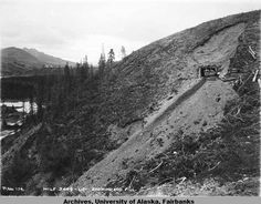 Mile - L. - University of Alaska Fairbanks - Alaska's Digital Archives Fairbanks Alaska, Digital Archives, The Hard Way, Fill, University, Country Roads, Mountains, Nature, Travel