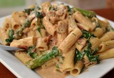 Bacon Asparagus Cajun Pasta from Small Town Woman Pasta Recipes, Cooking Recipes, Chicken Recipes, Cake Recipes, Cheese Recipes, Dinner Recipes, Organic Recipes, Ethnic Recipes, Best Casseroles