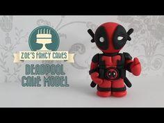 Deadpool model: fondant Deadpool cake topper using gum paste or fimo new deadpool trailer inspired - YouTube