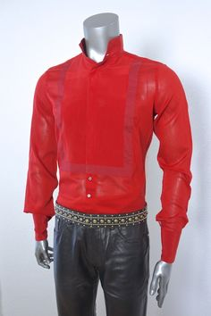 Roberto Cavalli Shirt , Gianni Versace Belt and Leather Jeans