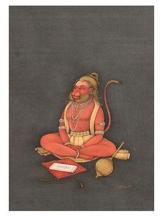Lord Hanuman Artist: Mahaveer Swami , Bikaneri style of painting Hanuman Images Hd, Hanuman Photos, Hanuman Hd Wallpaper, Lord Hanuman Wallpapers, Hanuman Chalisa, Indian Art Paintings, Hindu Art, Shiva Hindu, Digital Print
