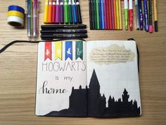 Harry Potter inspired Bullet Journal Layout! | Harry Potter Amino