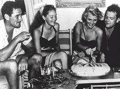 ...Errol Flynn, Nora Eddington, Rita Hayworth & Orson Welles.
