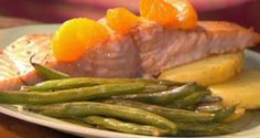 salmon asado a la naranja receta