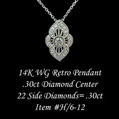 Antique diamond estate pendant.