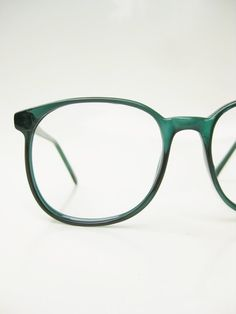 Vintage Green Eyeglasses 1970s Oversized Round Glasses Forest Emerald Jewel  Tone 70s Geek Chic Nerdy Clear Green Optical Frames Ladies 8ba7deeaa9
