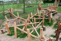 Playground Build & Design | Natural Child Play | Earth Wrights Ltd I love just about everything on this website. we could totally do this on the Greenway!