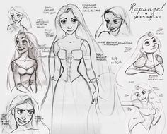 Such a beautiful Rapunzel drawing by Glen Keane.  Again, doesn't this make you wish TANGLED was hand-drawn?
