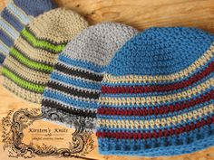 Last week I posted some patterns for newborns. Today I have 2 simple men's hat patterns. These work up quickly as well and are great for don...