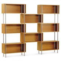 chicago 8 box modern storage shelving - cherry 1