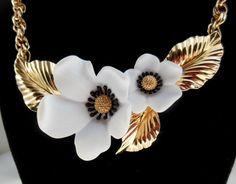 HUGE SALE Vintage Statement Necklace by Louis by Ladysfancys