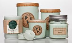 Eco candles®are pure soy candles that are hand-poured in Wisconsin using organic soybeans.