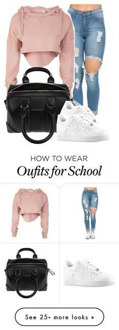 """""""bbyg"""" by janicegraziaa on Polyvore featuring Givenchy, NIKE, women's clothing, women, female, woman, misses and juniors"""