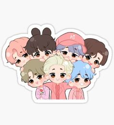 Kpop Stickers, Stickers Kawaii, Tumblr Stickers, Printable Stickers, Cute Stickers, Bts Chibi, Bts Boys, Kpop Diy, Kpop Drawings