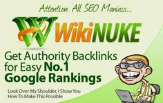 """""""Generate 1,000′s of Backlinks from Authority .EDU/GOV Wiki Sites Totally Hands-Free!  So Easy and Automated Even a Lazy Bum Can Do It Just look at what this kick-ass software can do!  Add your targeted content Captcha Support Upload Wiki List Content Curator Content Generator download for free contact http://seofounders.info team"""