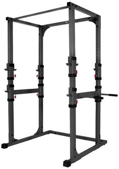 A power rack is, in my opinion, the best choice for being able to squat, bench press, and military press safely.