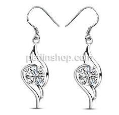 925 Sterling Silber Tropfen Ohrring