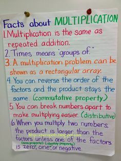 Resources and ideas for teaching multiplication of fractions teaching multiplication facts, multiplication anchor charts, Teaching Multiplication, Teaching Math, Teaching Reading, Maths, Teaching Ideas, Math Games, Math Math, Teaching Posters, Math Charts