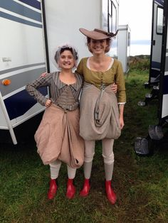 #Eleanor Tomlinson and I looking a bit less ladylike #poldark
