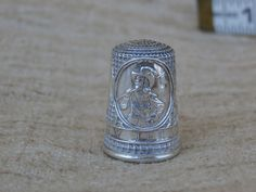 Vintage New Jersey Colonial America Silver Thimble, Free Shipping Collectible