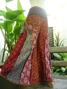 PATCHWORK Boho Gypsy Wide Leg Pants - PWW1307-1