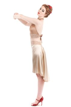 the signature skirt in butter champagne – poema by Hannah Louise