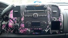 Muddy Girl Pink Camouflage Car Interior, LOVE!!