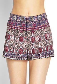 Tribal Damen Printed Pull On Skort Shorts