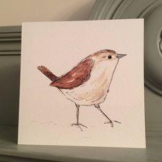 Wren Garden Bird Greetings Card