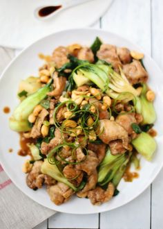 Cashew Chicken with Bok Choy | foodess