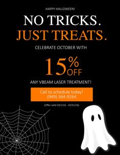This Halloween, take advantage of this scary good deal! #promo #altdermatology #lagunaniguel #dermatology #skincare #laser #aesthetics #orangecounty #halloween #discount #trickortreat #laderaranch #missionviejo #danapoint