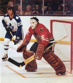 From the book, Hockey In The Seventies: The Game We Knew. Blackhawks Hockey, Hockey Goalie, Hockey Games, Chicago Blackhawks, Hockey Players, Hockey Pictures, Hockey Room, Goalie Mask, Nfl Fans