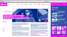 Daily Mirror_Online Web on Behance