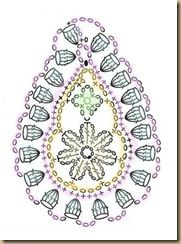 some very interesting crocheted Paisley patterns, all in chart form. Would make nice appliques on an afghan.This Pin was discovered by Dee Crochet Paisley, Irish Crochet Patterns, Crochet Motifs, Freeform Crochet, Crochet Diagram, Crochet Art, Crochet Squares, Thread Crochet, Crochet Designs