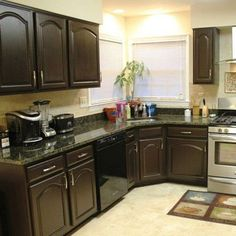 Brown Painted Kitchen Cabinets contemporary dark brown painted kitchen cabinets | home