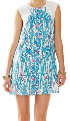 Lilly Pulitzer Iona Sleeveless Shift Dress in Long Story