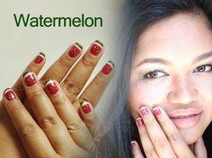 Nail Art – Watermelon Design