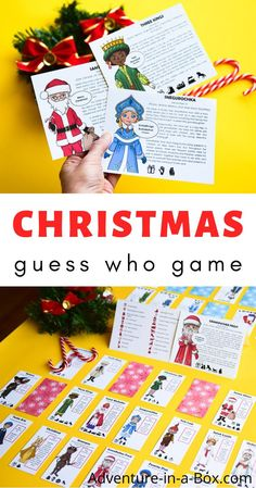 Have fun playing our printable Christmas Guess Who Game while learning about twenty regional Christmas characters and Christmas traditions around the world!  #christmas #homeschool #homeschooling #printablegame #guesswho