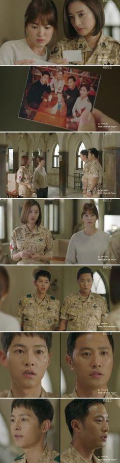 Song Joong-ki as Yoo Shi-jin Song Hye-kyo as Kang Mo-yeon Kim Ji-won as Yoon Myeong-joo Jin Goo as Seo Dae-Young Descendants of the sun Live Action, K Pop, Desendents Of The Sun, Kdrama, Les Descendants, Song Joon Ki, Korean Drama Series, Songsong Couple, 22 November