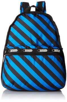 LeSportsac Basic Backpack, Ace Stripe, One Size Nylon Bag, Travel Tote,  Backpack 13a625abbc