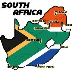 I grew up in Johannesburg; vacationed in Durban and Cape Town; and the Kruger National Park is near Nelspruit. South Africa.