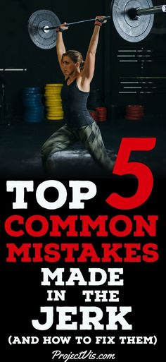 #OlympicWeightlifting can be tricky, especially the #jerk . The #SplitJerk can rattle the confidence of even the most gifted athletes, but anyone can #learn it with a little #practice and #patience . To skyrocket your jerk, take a look at the #CommonMistakes and how to fix them. You'll be glad you caught these mistakes early! #ProjectVis