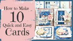 DIY Card Making Tutorial (FAST and EASY) ~ Mintay Harmony Collectiion Paper Cards, Diy Cards, Card Making Tutorials, Video Tutorials, Project Yourself, Make It Yourself, Making 10, Homemade Cards, Mini Albums